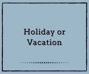 Holiday or Vacation